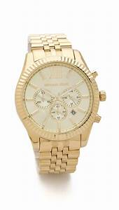 Michael kors Men'S Oversized Lexington Watch - Gold in ...