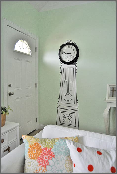 Ikea Grandfather Clock Bookcase by Ikea Painted Clock Sparkles Of