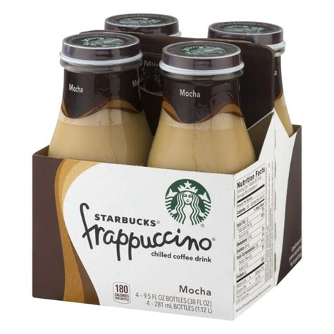To inspire and nurture the human spirit — one person, one cup and one neighborhood at a time. Starbucks Frappuccino Chilled Coffee Drink Mocha - 4 PK / 9.5 FL OZ PrestoFresh Grocery Delivery