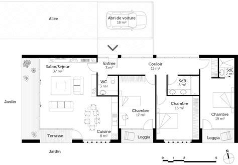 plan maison moderne toit plat ooreka