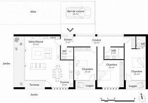 Plan Maison U : plan maison moderne toit plat ooreka ~ Dallasstarsshop.com Idées de Décoration