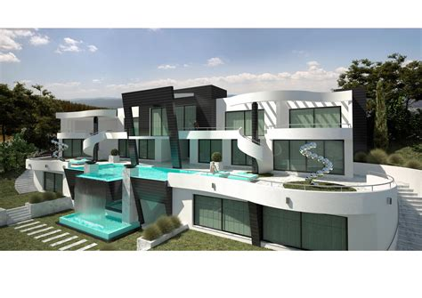 complete house plans a modern villa project in marbella south spain