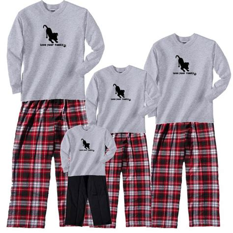 love  family dog family cozy flannel outfits