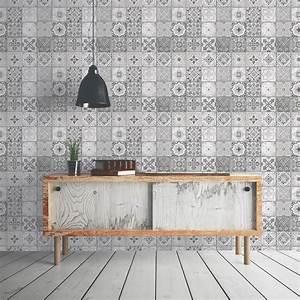 Pose De Papier Peint Intissé : papier peint intiss carreau ciment gris leroy merlin ~ Dailycaller-alerts.com Idées de Décoration