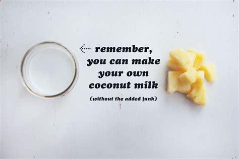 how to make a pina colada healthy pina colada recipe with coconut milk