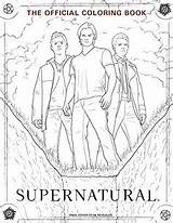 Supernatural Coloring Official Insight Editions Winchester Symbols Dean Sam Colouring Castiel sketch template