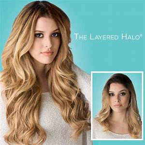 """Halo Couture Hair Extensions 18"""" Layered Halo 100% Remy ..."""