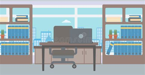 background  office  city view stock vector