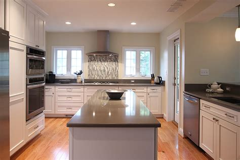 white and grey traditional kitchen white kitchen gray countertops traditional kitchen White And Grey Traditional Kitchen