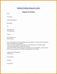 6+ holiday request letter sample applicationleter