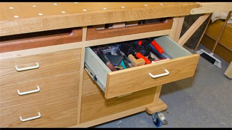 mobile bench project    simple drawers part