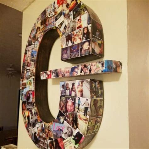 diy picture collage letters ideas    lets