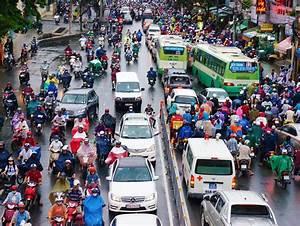 Traffic Jam, Asia City,rush Hour, Rain Day Editorial Stock ...