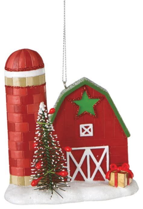 midwest cbk barn christmas tree ornament farm silo
