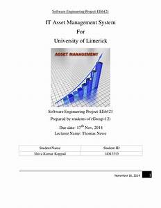 it asset management system for ul software engineering With asset management system project documentation