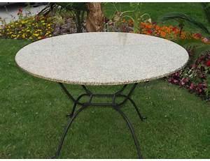 Table Ronde Exterieur : la m tallerie table ronde en fer forg plateau en verre ~ Teatrodelosmanantiales.com Idées de Décoration