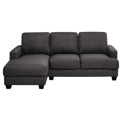 canapé 4 places tissu canapé d 39 angle gauche 3 4 places en tissu gris chiné