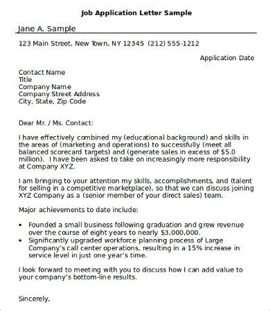 sample job application  word  documents