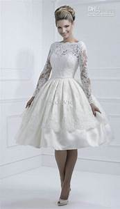 vintage short lace wedding dress with long sleevescherry With long sleeve short wedding dresses