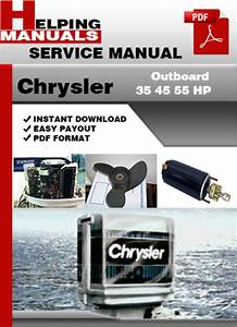 Chrysler Outboard 35 45 55 Hp Service Repair Manual