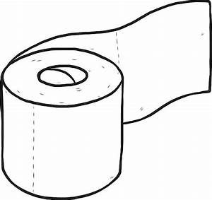 Toilet Paper Clipart Black And White