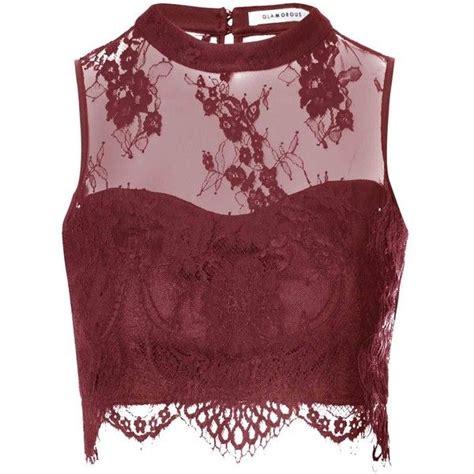 Red Lace Crop Top  Wwwpixsharkcom  Images Galleries