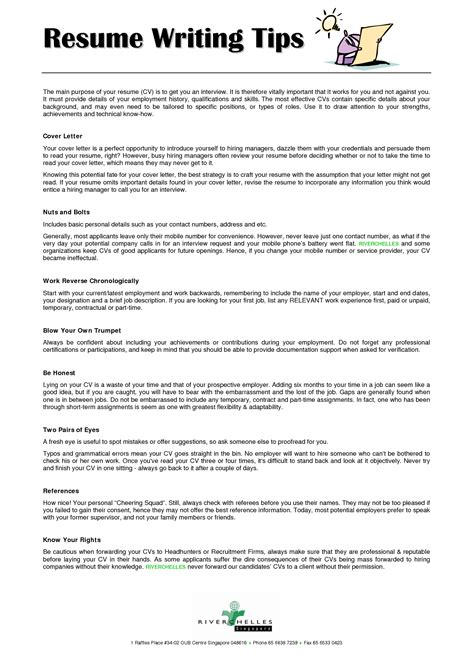 Resume Writing Tips For Highschool Students by Resume Writing Tips Resume Career Resume Writing Tips
