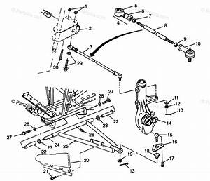 Polaris Atv 1996 Oem Parts Diagram For Aarm  Strut Mounting