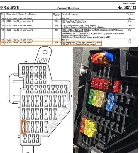 2008 Volkswagen Rabbit Fuse Box Diagram 2006 volkswagen rabbit fuse box diagram diagrams