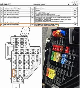 2006 Volkswagen Rabbit Fuse Box Diagram