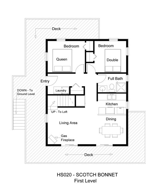 Small 2 Bedroom Bath Cabin Floor Plans