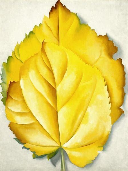 georgia okeeffe  yellow leaves yellow leaves  art print global gallery