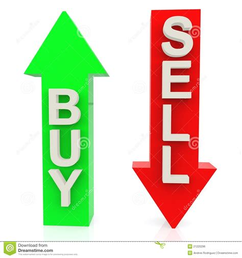 3d Buy Or Sell Stock Illustration Image Of Market