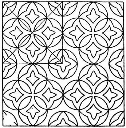 Mosaic Marble Patterns Pages Coloring Pattern Circle