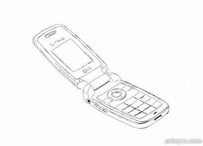 Drawing Phone Cell Guide Mobile Sketch Step