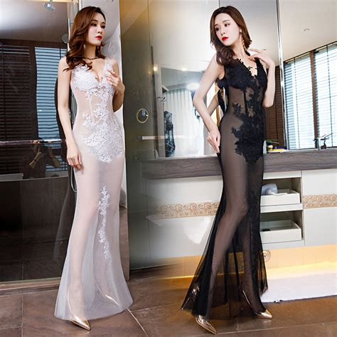 sexy transparent mermaid long dress prom gowns wholesale