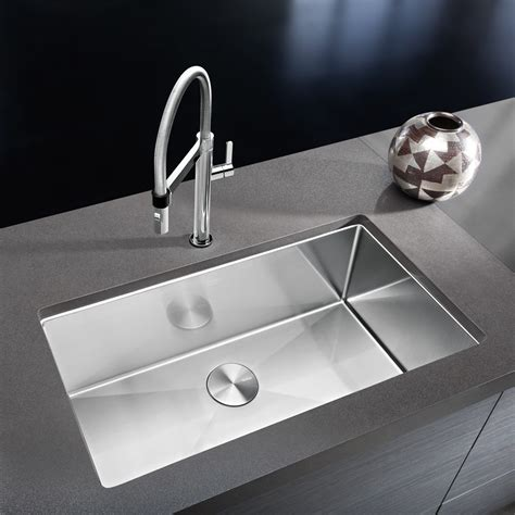 blanco single bowl sink stainless steel sinks in the kitchen design necessities bath