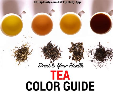 drink   health tea color guide fit tip daily