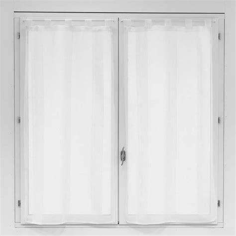voilage fenetre cuisine paire de voilages pour fenêtre blanc 60x120cm