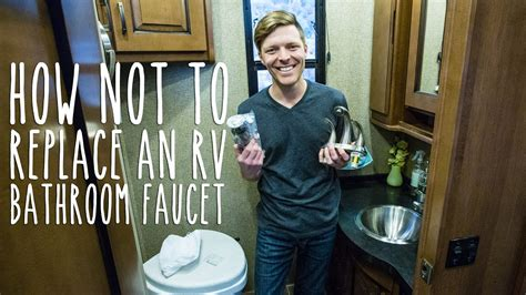 replace  rv bathroom faucet youtube