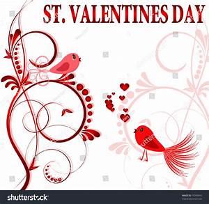 Saint Valentines Day Heart Floral Abstract Stock Vector ...