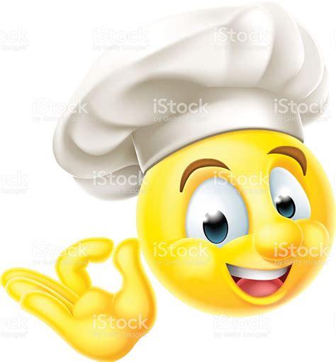 cuisiner italien chef cuisinier emoji émoticon stock vecteur libres de
