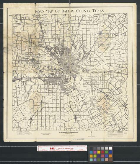 road map  dallas county texas  portal  texas history