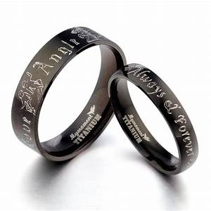 black couple hisher anyword matching wedding engagement With matching wedding rings sets