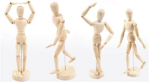 jointed wooden doll drawing male manikin mannequin toy art