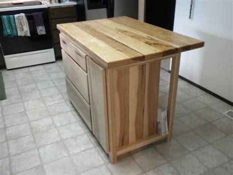 hickory kitchen island hickory kitchen island by don lumberjocks com