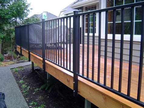 Wood Porch Railing Systems by Deck Railing Systems Easyrailings Aluminum Railings