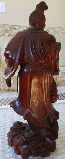 antique rosewood sculpture   chinese  man