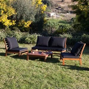 Canape De Jardin Bois : salon jardin bois exotique ~ Premium-room.com Idées de Décoration