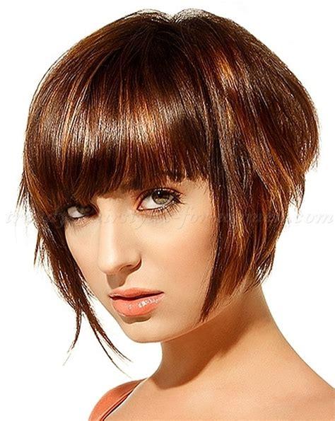 bob haircuts with bangs graduated bob hairstyle with bangs hairstyle 2013 9557